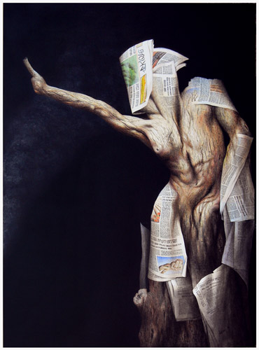 The Tree and Newspaper